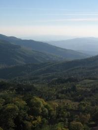 La Verna - vergezicht richting Arezza