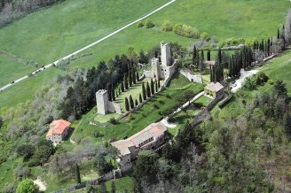 Overzicht kasteel Romena