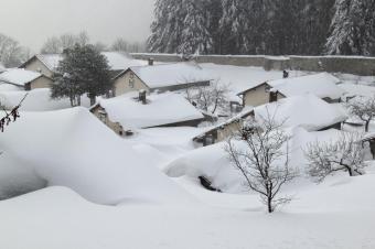 Eremo in de sneeuw